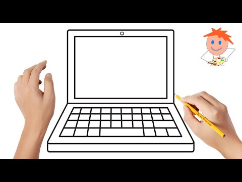 How to draw a laptop | Easy drawings