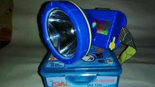 Đèn đội đầu Led Thái Lan 583 | Màn hình led hiện thị thông tin Có hộ trợ sạc pin điện thoại di động