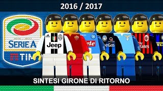 Serie A 2016/17 Sintesi e Goal Campionato 2017 Lego Calcio • Ritorno • Film Lego Football Highlights