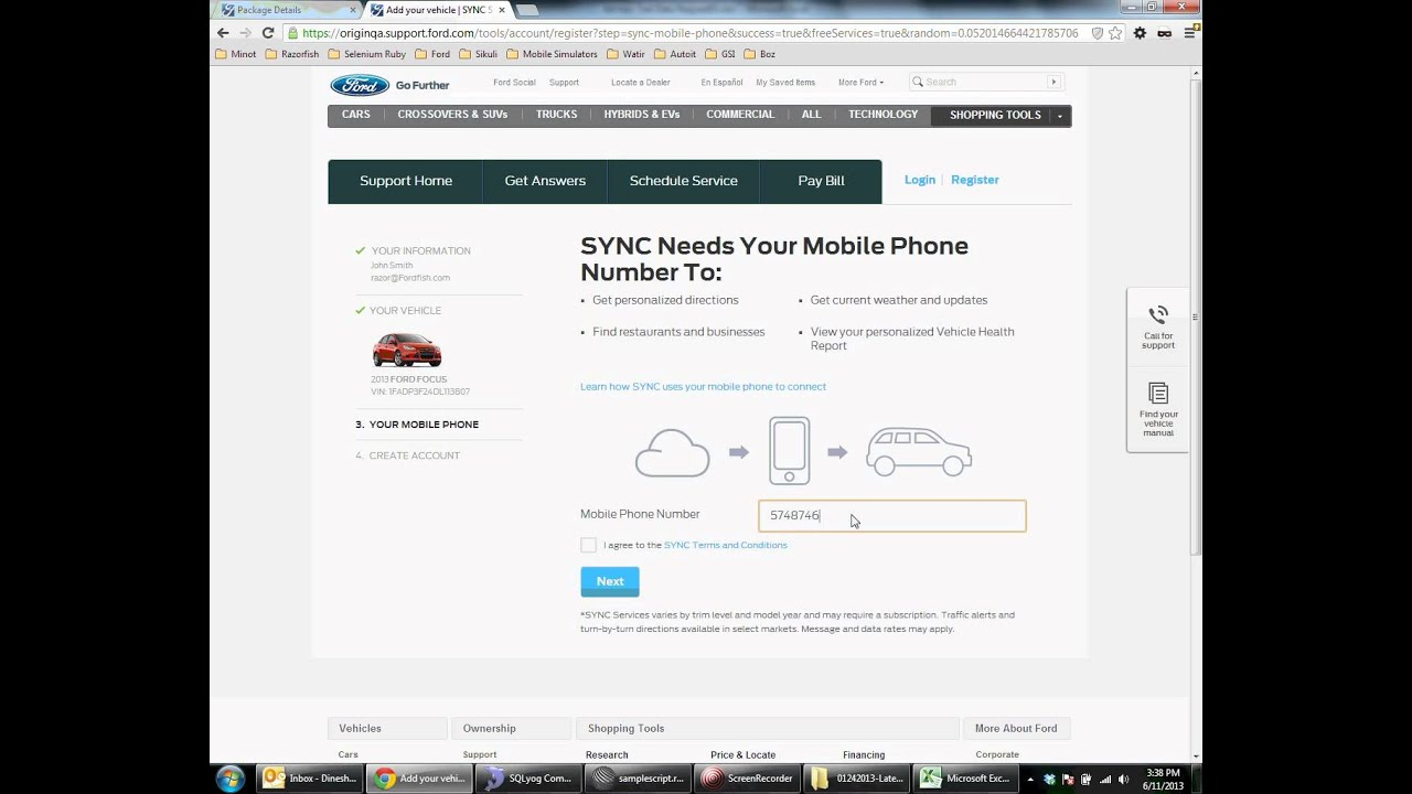 Syncmyride Com Register Ford >> How To Register An Account Youtube