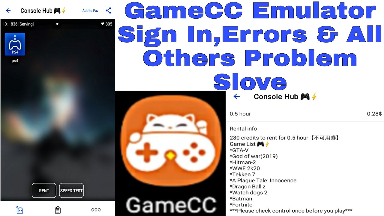 GameCC Cloud Gaming Emulator Sign In Problem,Errors Problem & All Others Problem Slove 100% Working👍