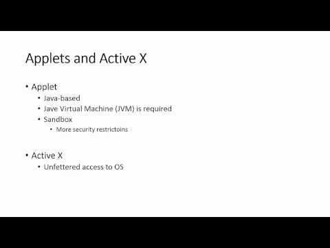 Applets vs. Applications
