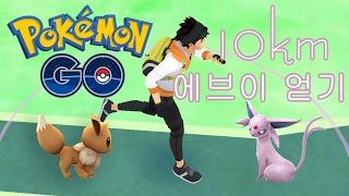 포켓몬 고 이브이와 10km 걸어서 에브이로 진화? (Pokemon GO : 10km walked and finally got evo Espeon?)