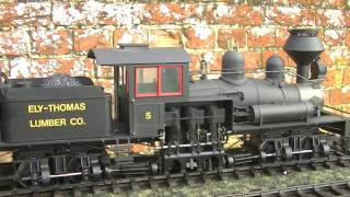 G-Scale  3 Cylinder Shay