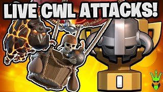 "HITTING LIVE CLAN WAR LEAGUE TRIPLES! - TH11 & TH12 LaLoon Attacks - ""Clash of Clans"""
