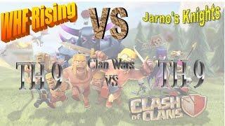 Clan War Recap TH9 vs TH9 3 star attacks WHF Rising vs Jarno's Knights #49