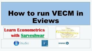 how to run vecm in eviews