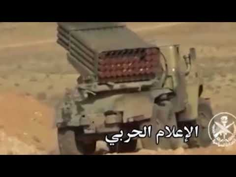 Syrian army operation in support of RuAF against IS Jihadists in east Homs