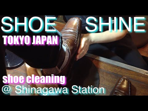 shoe cleaning New York Style in Tokyo Japan :) (left one)