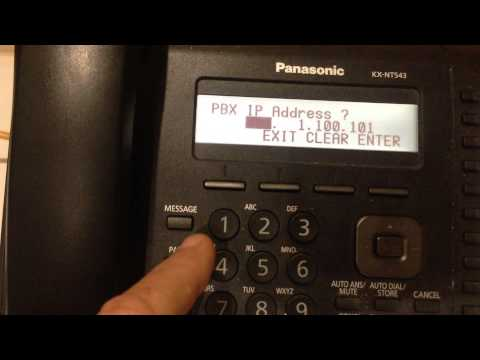Setting PBX address Panasonic-346