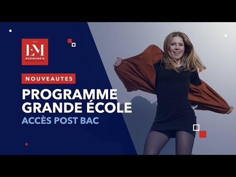 Les nouveautés du Programme Grande Ecole de l'EM Normandie - accès post-bac