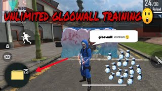 unlimited gloowalls in training😲|freefire new gloowall trick malayalam