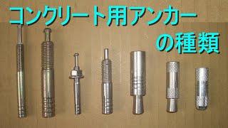 コンクリート用 アンカーの種類 ・施工上の注意点 ・内部コーン打込み式...