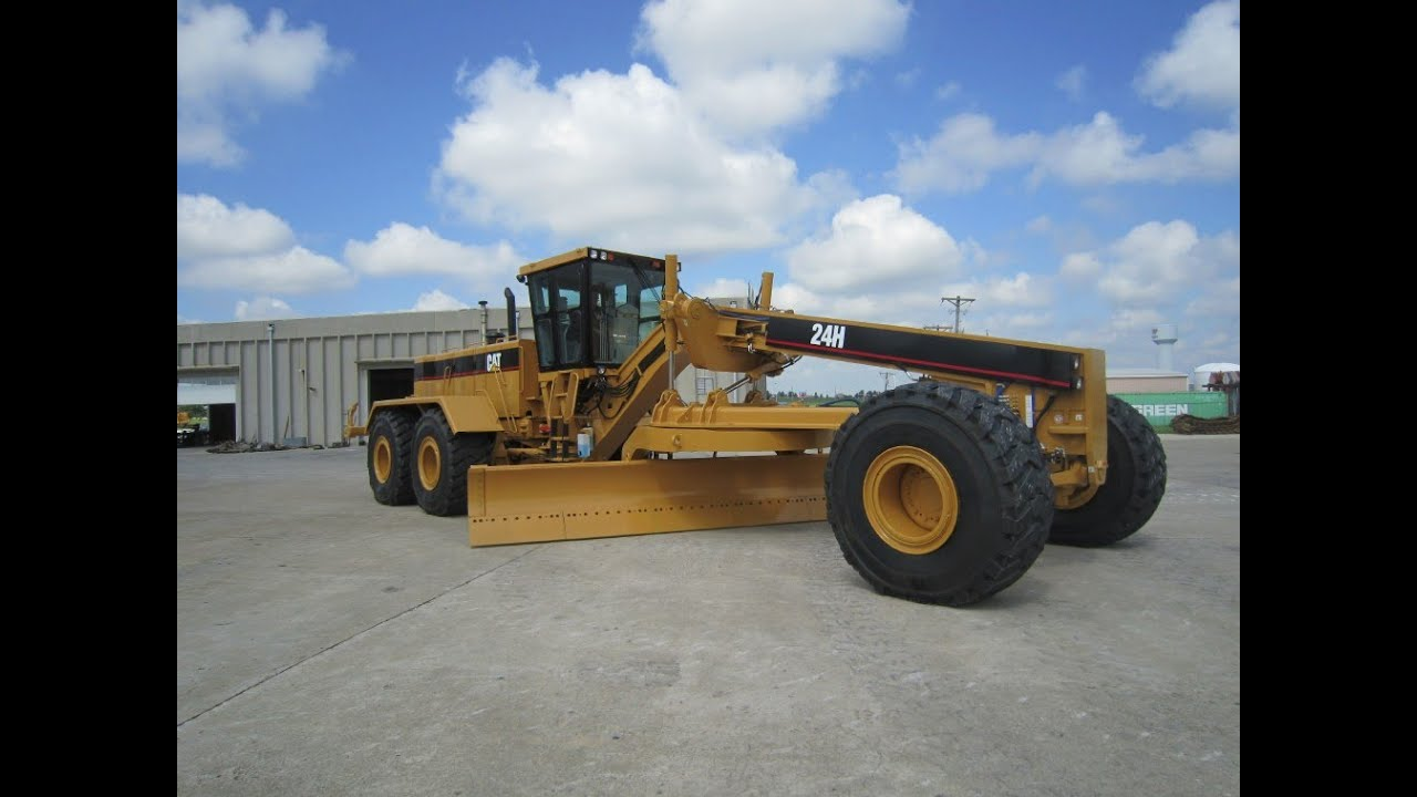 cat 24h motor grader youtube