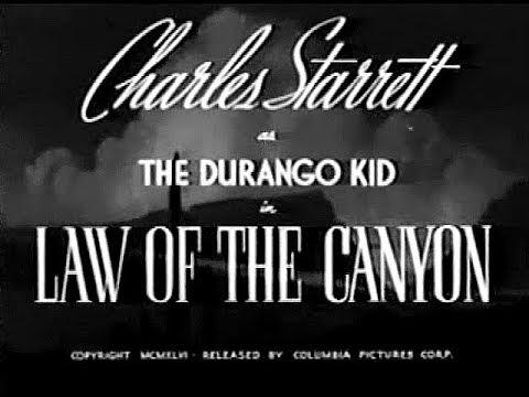 The Durango Kid - Law Of The Canyon - Charles Starrett, Smiley Burnette