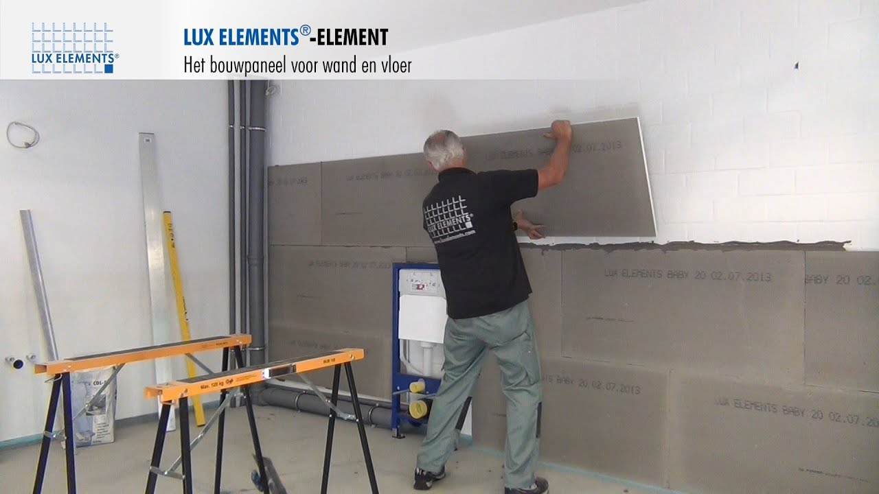 LUX ELEMENTS montage bouwplaat ELEMENT als wandbekleding
