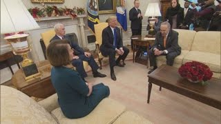 Trump, Pelosi & Schumer have very public spat at White House