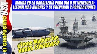 Llegan más aviones militares de EU a frontera con Venezula. Zarpan 2 portaaviones