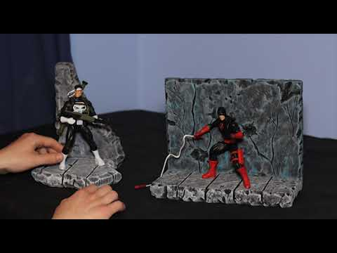 Custom 1/12 Scale Destroyed Concrete Action Figure Dioramas - VASCO Toys