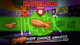 [ENDED] Roblox Event | How to get all 3 items on Kids' Choice Awards 2018 Event | Full Guide