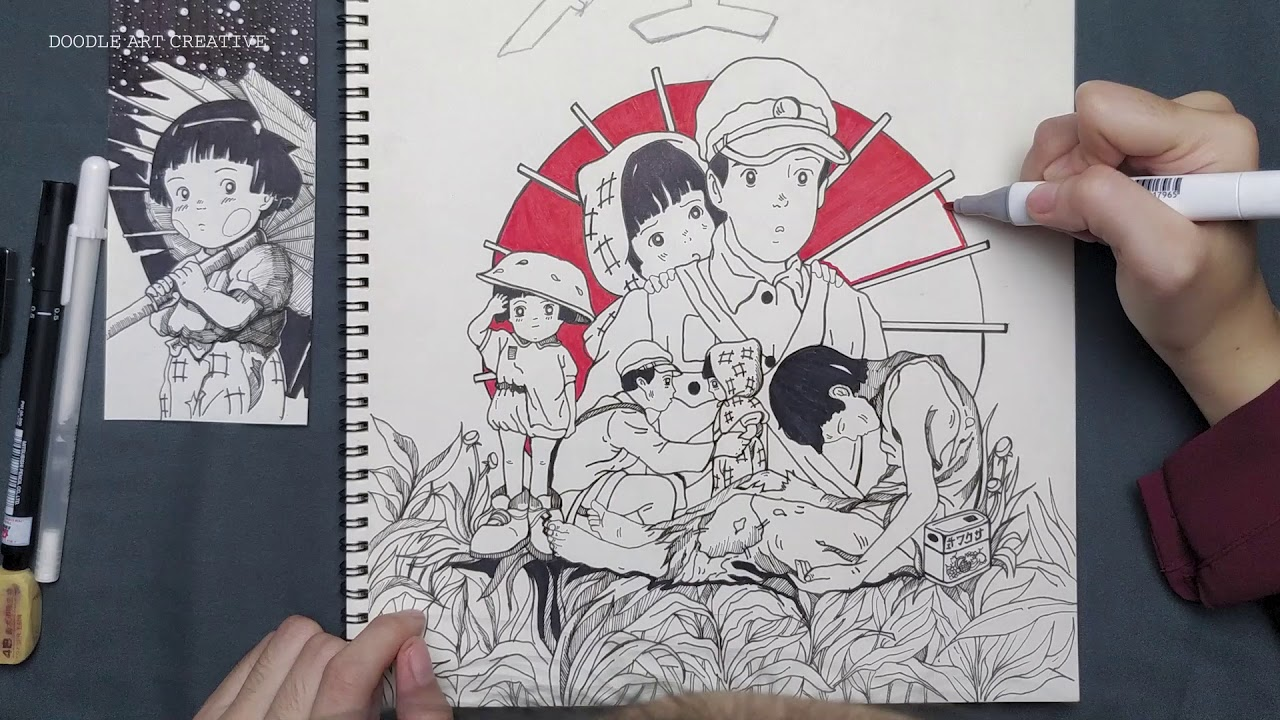 Mộ Đom Đóm | 017 Doodle Art Creative
