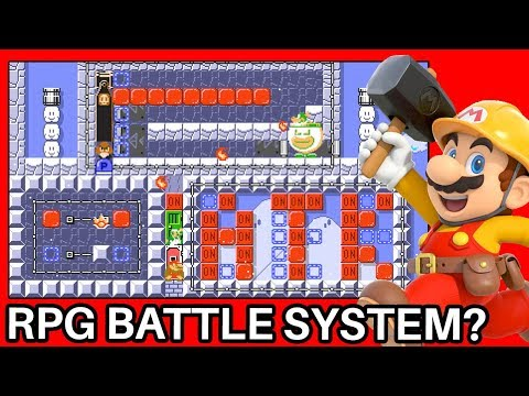 An Amazing RPG Battle System Simulator Designed In Super Mario Maker 2