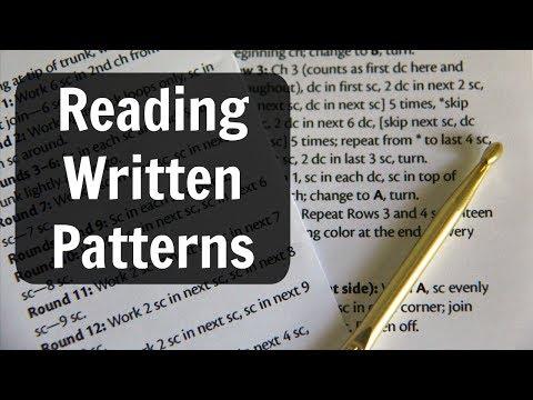 Crochet Basics: Reading Written Patterns