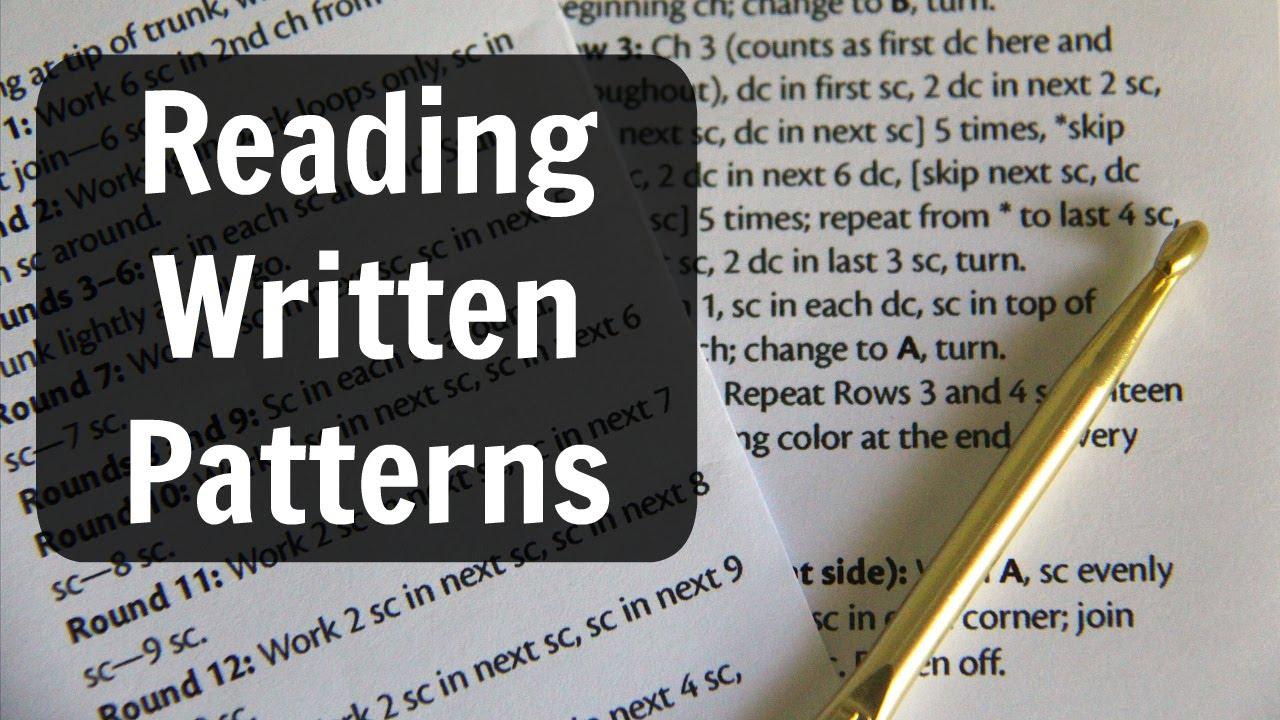 Crochet Basics Reading Written Patterns Youtube