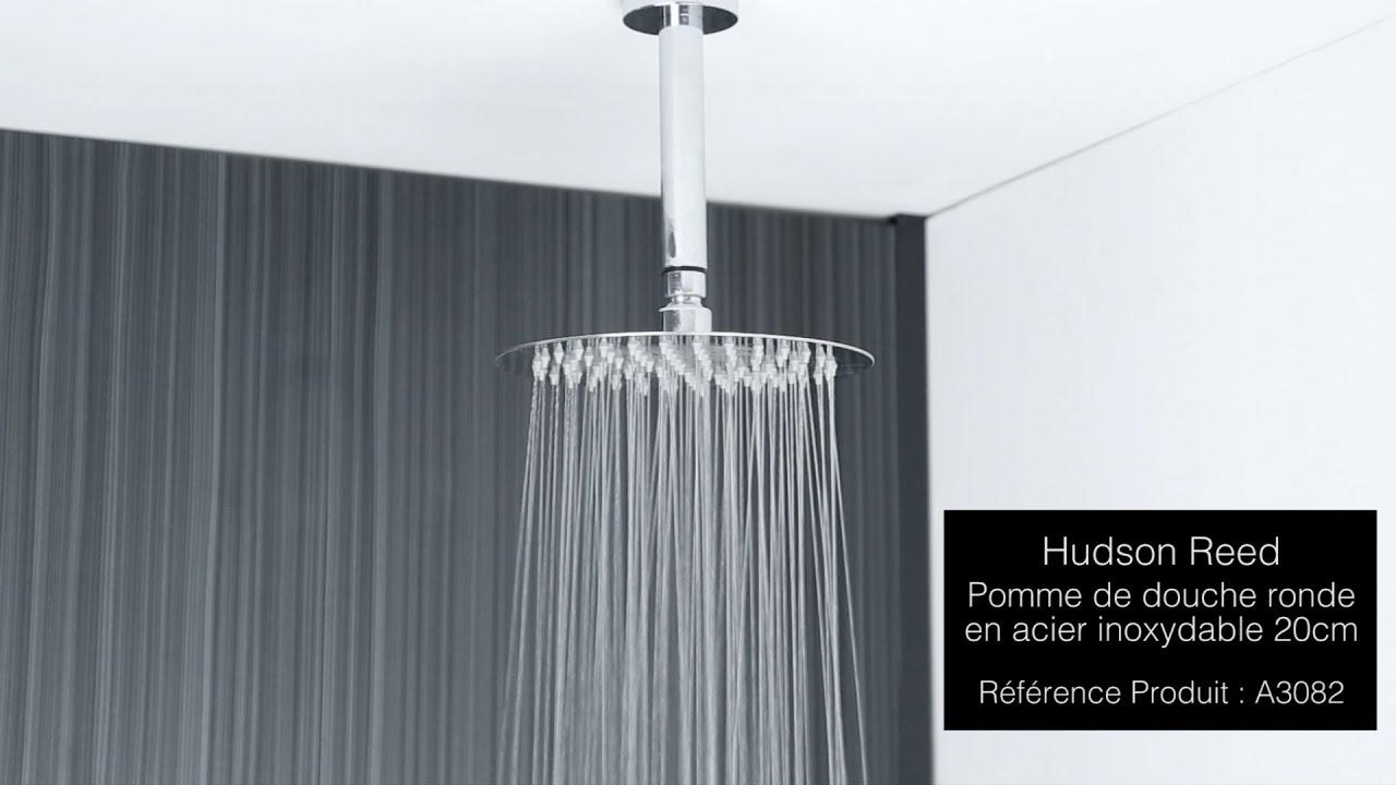 pomme de douche plafond ronde 20cm youtube. Black Bedroom Furniture Sets. Home Design Ideas