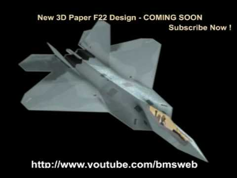 f 22 raptor paper airplane instructions fold