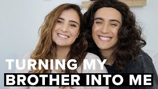 One of Sofia Conte's most viewed videos: TURNING MY BROTHER INTO ME ft. Gabriel Conte | Sofia Conte
