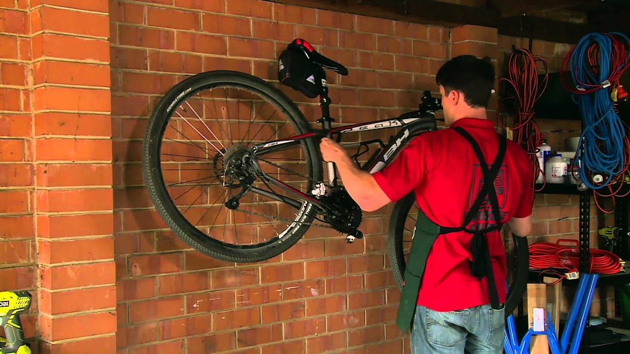 How To Hang A Bicycle - DIY At Bunnings - YouTube