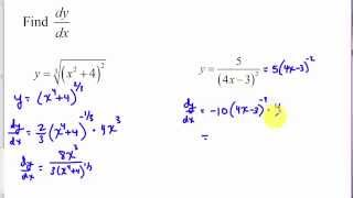 Chain Rule and Generalized Power Rule Tutorial