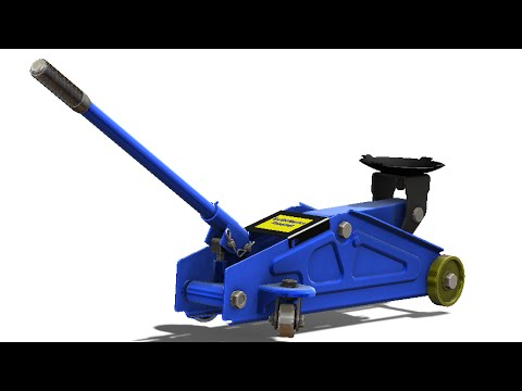 Solidworks Tutorial 228 Hydraulic Floor Jack Youtube