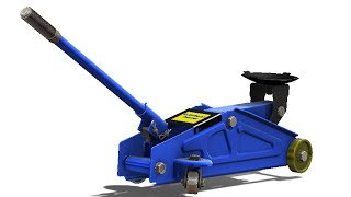 SolidWorks Tutorial #228: Hydraulic floor jack