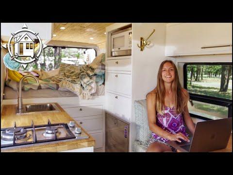 Her VAN DWELLING Tour & Adventurous Life is Real Nomadland