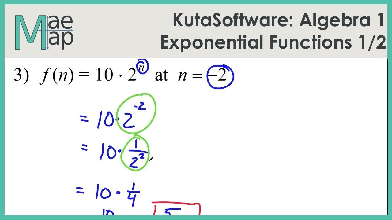 Kutasoftware algebra 1 exponential functions part 1 youtube kutasoftware algebra 1 exponential functions part 1 falaconquin