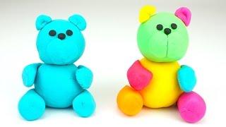 Мишки из пластилина Плей-до учимся лепить