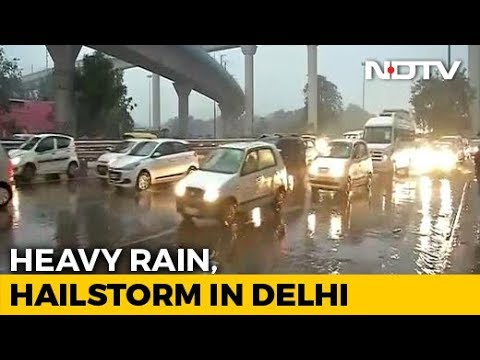 Jams In Delhi After Heavy Rain, Hailstorm During Rush Hour Mp3