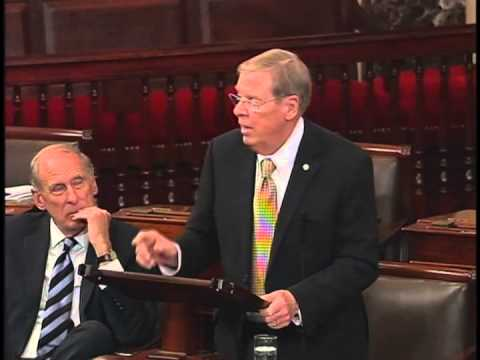 Sen Johnny Isakson Bids Farewell to Sen Saxby Chambliss