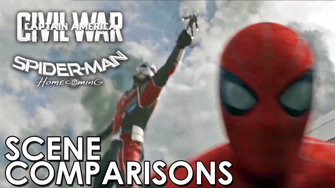 Download Spider-Man: Homecoming and Captain America: Civil War - scene comparisons