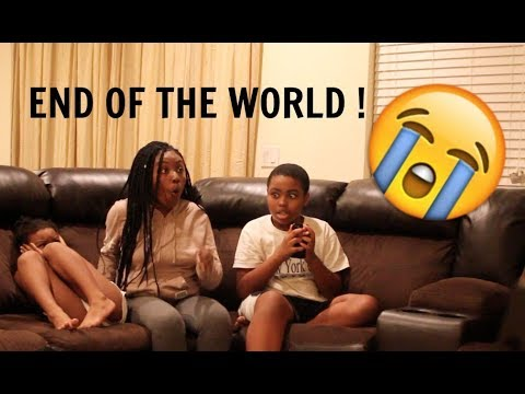 THE END OF THE WORLD PRANK ON MY SIBLINGS !