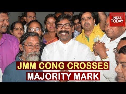 Jharkhand Elections : JMM-Congress Crosses Majority Mark, Leading In 41 Seats
