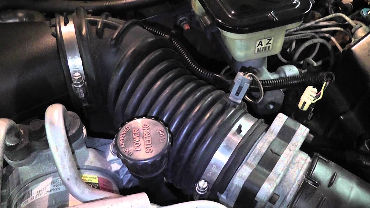 2000 chevy s10 intake air temperature sensor location