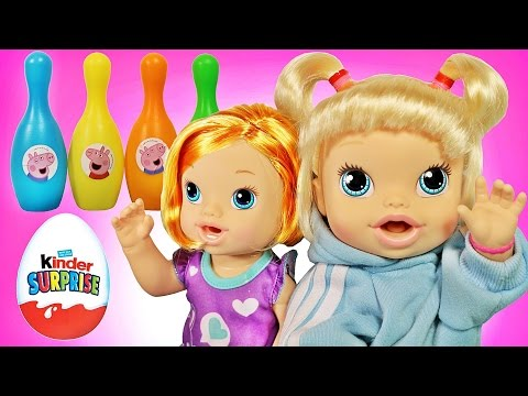 Куклы Пупсики Беби Элаив выигрывают в конкурсе Киндер-Сюрпризы Маша и Медведь, Свинка Пеппа