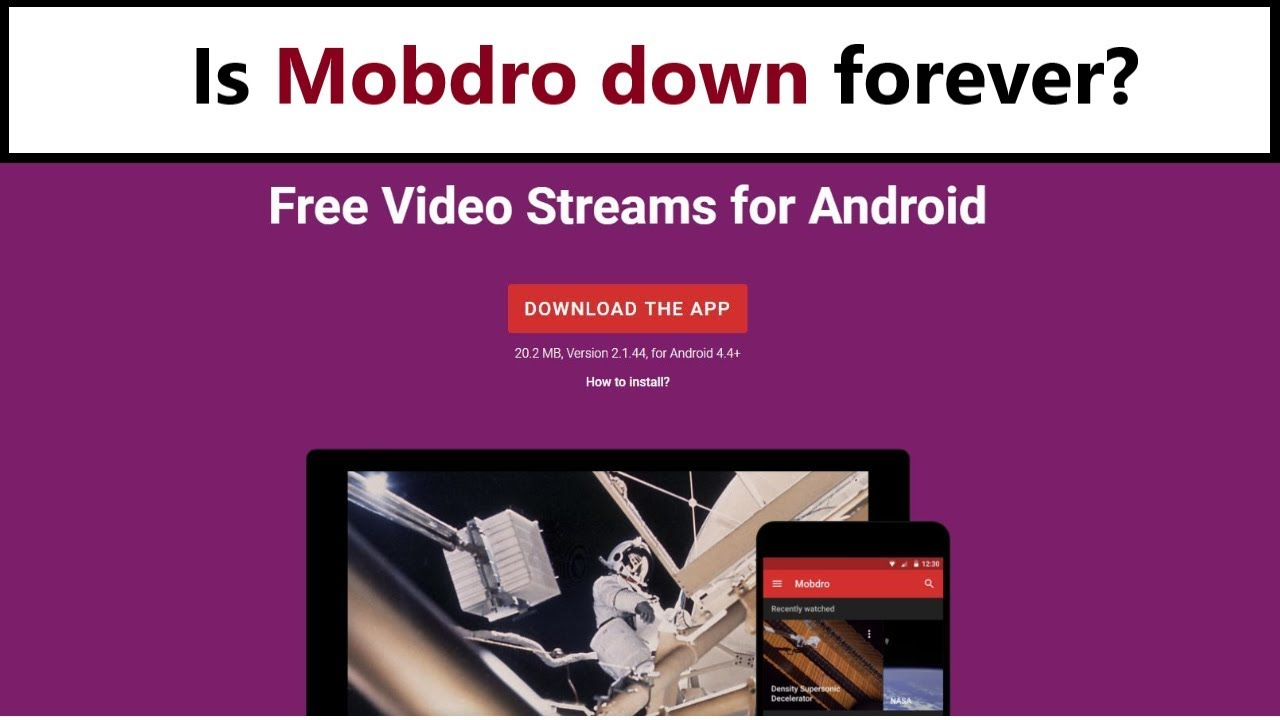 Mobdro is down? Why does app offline? Was it banned?