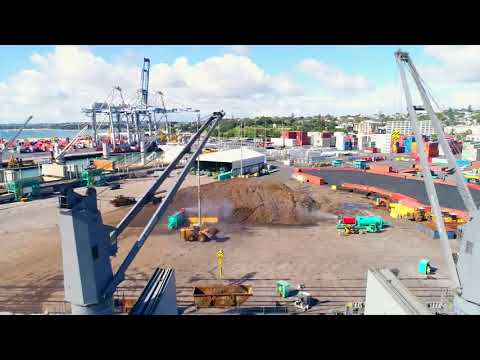 Spraystream Dust Control  Suppression in Mineral handling Port
