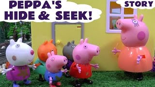 Peppa Pig English Episode Thomas and Friends Toy Train Minions Hide and Seek Surprise Eggs Frozen