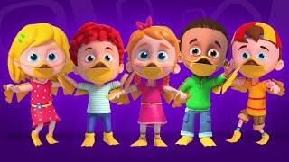Five Little Ducks | Nursery Rhymes & Kids Songs | Cartoon for Childrens