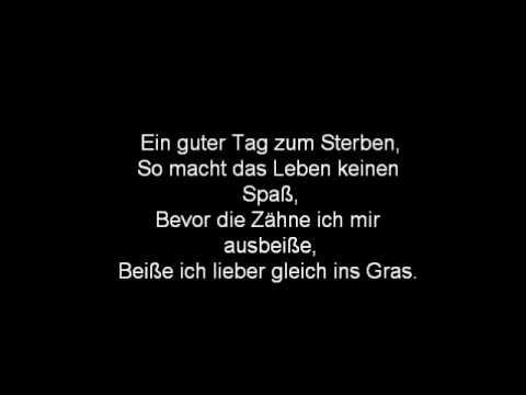 J.B.O.  - Ein Guter Tag zum Sterben- Lyrics